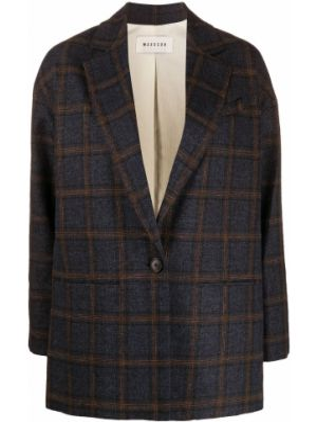 Синий пиджак с карманами из вискозы с лацканами Masscob
