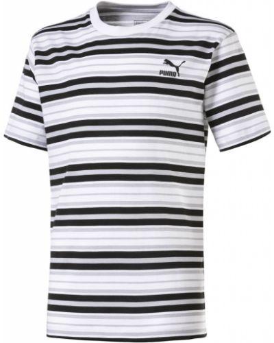 Рубашка черная в полоску Puma