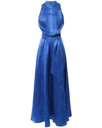 Шелковое платье - синее Kiton
