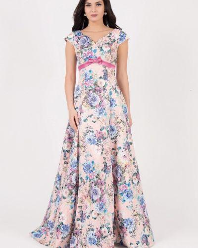 Вечернее платье розовое осеннее Grey Cat