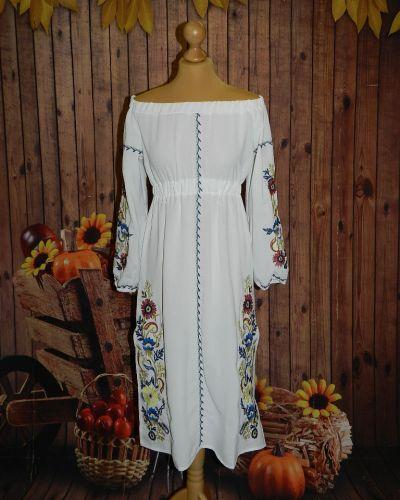 Платье из штапеля - белое Novakoza