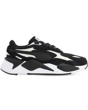 Czarne sneakersy sznurowane koronkowe Puma Select