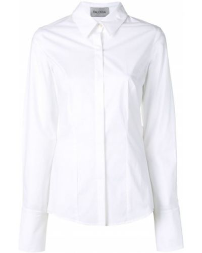 Рубашка с длинным рукавом белая на пуговицах Balossa White Shirt
