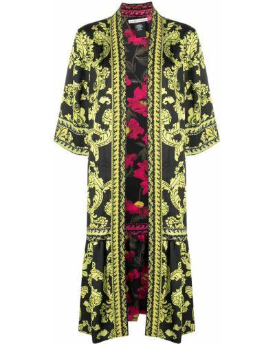 Włókienniczy czarny kimono dwustronny Alice+olivia