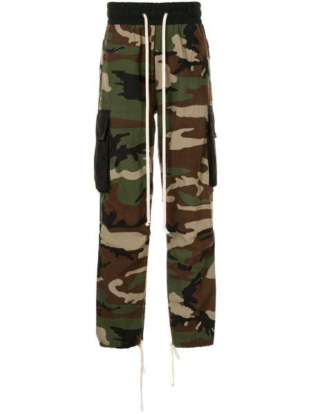 Хлопковые зеленые брюки карго с карманами для беременных Daniel Patrick