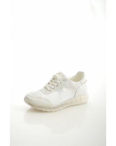 Кроссовки из искусственной кожи белый Chezoliny