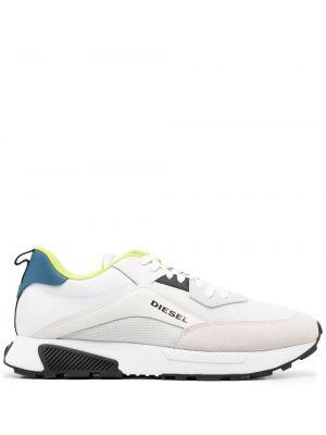 Кроссовки на шнуровке - белые Diesel