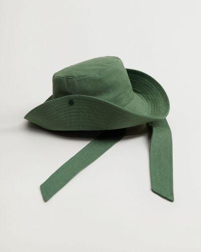 Zielona czapka bawełniana Mango