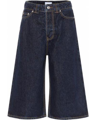 Джинсовые шорты - синие Ganni