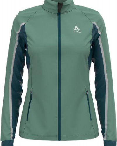 Зеленая куртка для бега Odlo