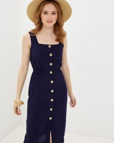 Прямое синее платье Zarina