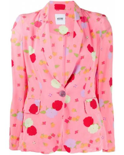 Розовая куртка Moschino Pre-owned