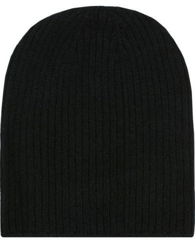 Черная вязаная шапка Johnstons Of Elgin