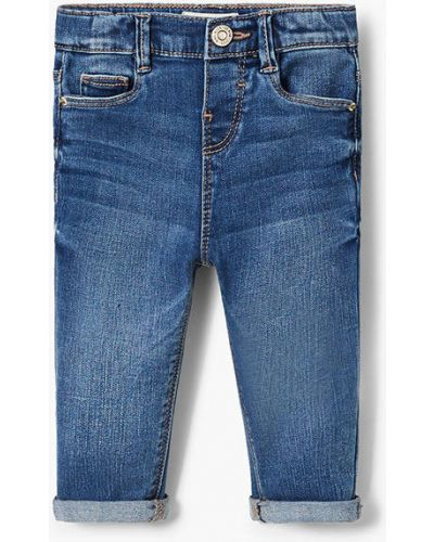 Синие джинсы с карманами Mango Kids
