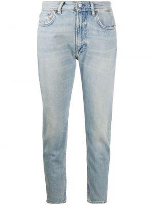 Klasyczny bawełna niebieski jeansy do kostek z kieszeniami Acne Studios