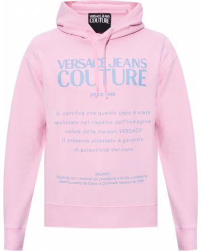 Bluza z nadrukiem z printem - niebieska Versace Jeans Couture