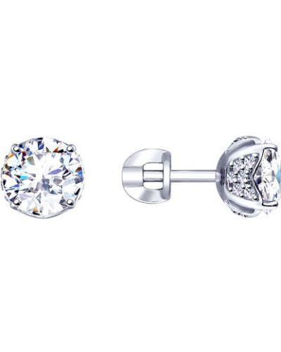 Серебряные серьги серьги-гвоздики серебряный Sokolov