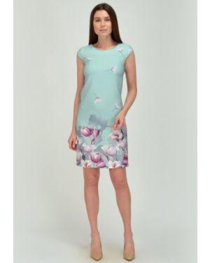 Летнее платье миди с цветочным принтом Viserdi