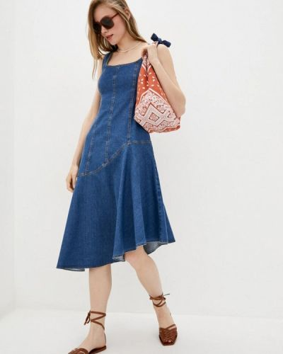 Синее джинсовое платье Dolcedonna