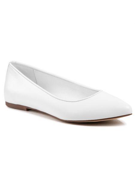 Białe balerinki R.polański