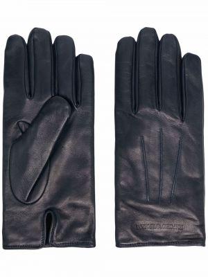 Rękawiczki wełniane - niebieskie Emporio Armani