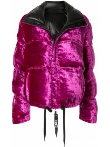 Розовая куртка двусторонняя на молнии с воротником Kru