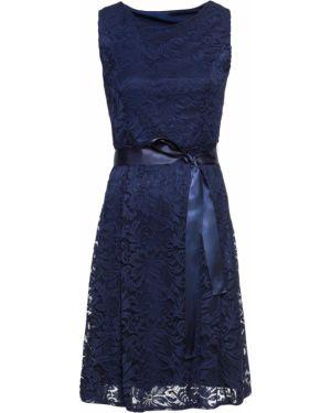 Платье мини с поясом на торжество Bonprix