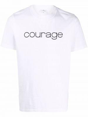 Biała t-shirt krótki rękaw Courreges