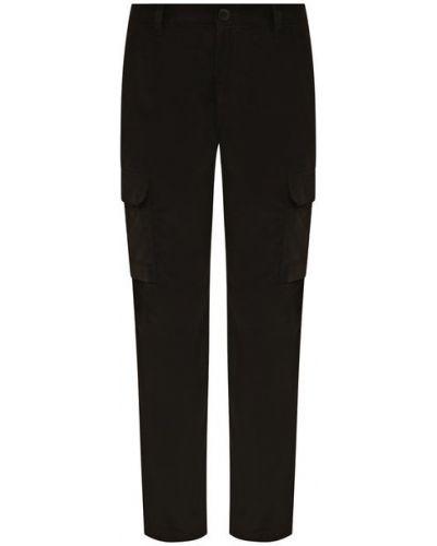 Коричневые хлопковые брюки Brioni