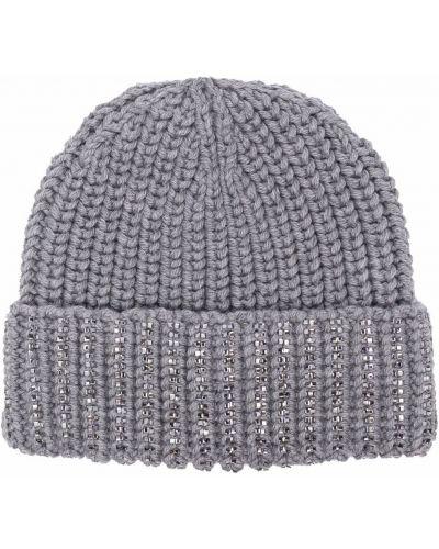 Серая шерстяная шапка Ermanno Scervino