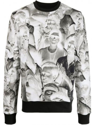 Czarna bluza z długimi rękawami bawełniana Limitato