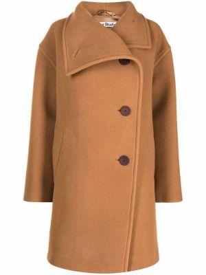 Коричневое пальто длинное Acne Studios