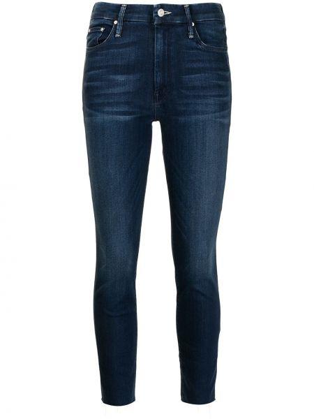 Синие джинсы на молнии Mother
