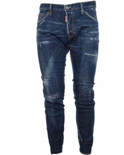 Niebieskie spodnie Dsquared2