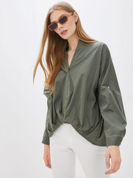 Блузка с длинным рукавом зеленый весенний Perfect J