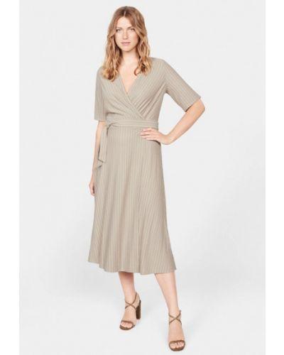 Платье с запахом осеннее Violeta By Mango