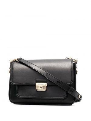Черная кожаная сумка среднего размера на молнии Michael Michael Kors