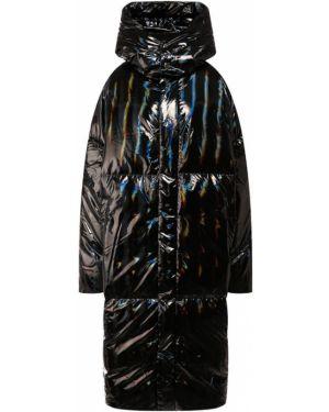 Пуховик с капюшоном - черный Odri