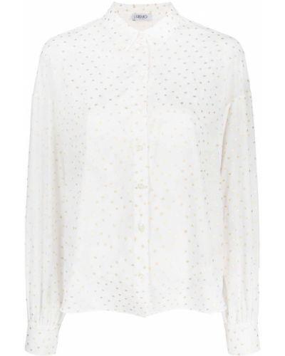 Biała koszula z długimi rękawami - biała Liu Jo