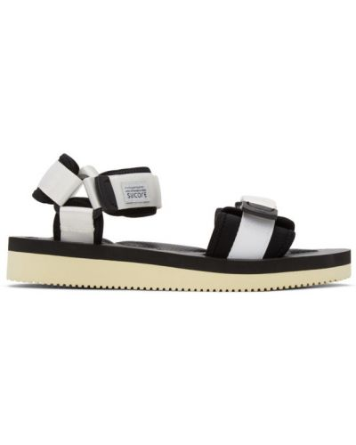 Czarne sandały na rzepy z nylonu Suicoke
