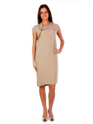 Платье из вискозы - бежевое Cerruti 18crr81