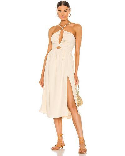 Платье с открытой спиной - бежевое Lpa