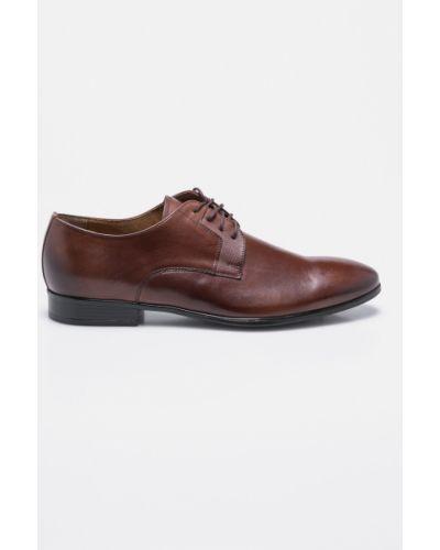 Коричневые туфли на шнуровке Domeno