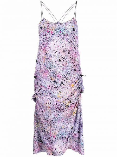 Платье на бретелях - фиолетовое Mcq