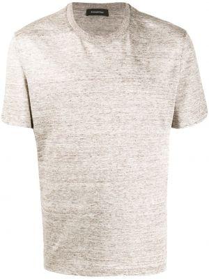Koszula krótkie z krótkim rękawem prosto bielizna Ermenegildo Zegna