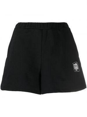 Черные хлопковые спортивные шорты с завышенной талией Opening Ceremony