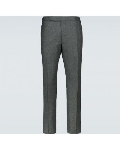 Фиолетовые шерстяные брюки с подкладкой Ralph Lauren Purple Label