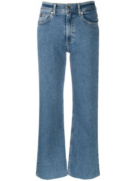 Синие укороченные джинсы свободного кроя на молнии Calvin Klein