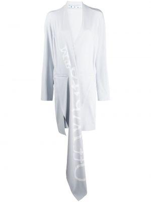 Długi płaszcz asymetryczny z kieszeniami Off-white