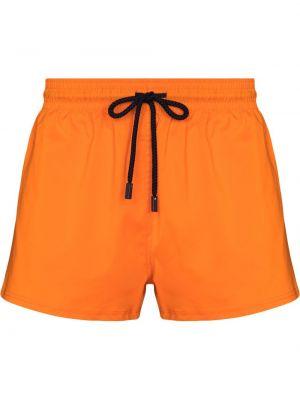 Pomarańczowe szorty bawełniane Vilebrequin